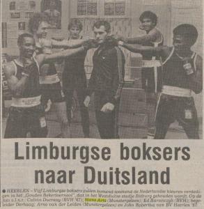 27-06-1980 limburgse boksers naar Duitsland met Hans Arts en Jan Derhaag